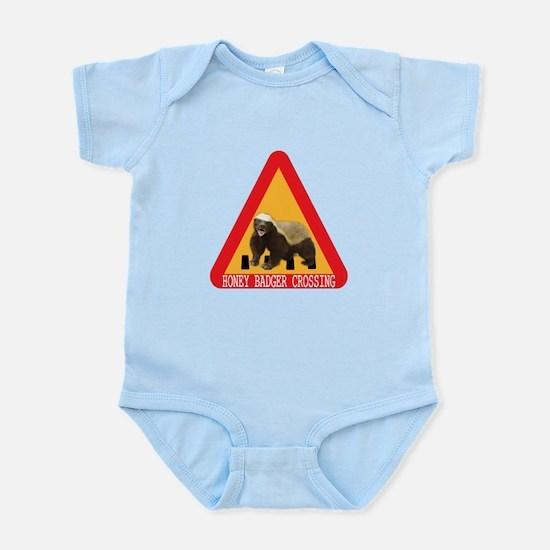 Honey Badger Crossing Sign Infant Bodysuit