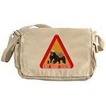 Honey Badger Crossing Sign Messenger Bag