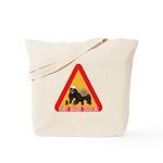 Honey Badger Crossing Sign Tote Bag
