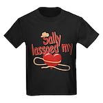 Sally Lassoed My Heart Kids Dark T-Shirt