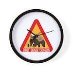 Honey Badger Crossing Sign Wall Clock