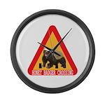 Honey Badger Crossing Sign Large Wall Clock