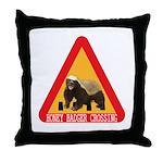 Honey Badger Crossing Sign Throw Pillow