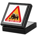 Honey Badger Crossing Sign Keepsake Box