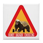 Honey Badger Crossing Sign Tile Coaster