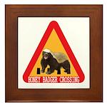 Honey Badger Crossing Sign Framed Tile