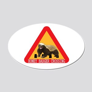 Honey Badger Crossing Sign 20x12 Oval Wall Decal