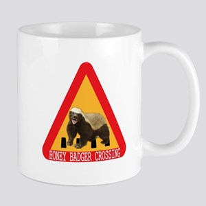 Honey Badger Crossing Sign Mug