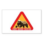 Honey Badger Crossing Sign Sticker (Rectangle 10 p