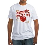 Samantha Lassoed My Heart Fitted T-Shirt