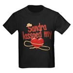 Sandra Lassoed My Heart Kids Dark T-Shirt