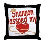 Shannon Lassoed My Heart Throw Pillow