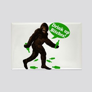 Drink Up Bitches Bigfoot Rectangle Magnet