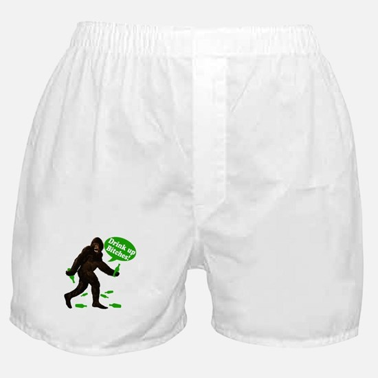 Drink Up Bitches Bigfoot Boxer Shorts