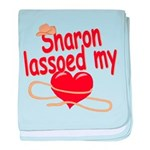 Sharon Lassoed My Heart baby blanket