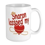 Sharon Lassoed My Heart Large Mug