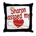 Sharon Lassoed My Heart Throw Pillow