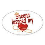 Sheena Lassoed My Heart Sticker (Oval)