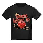 Sheena Lassoed My Heart Kids Dark T-Shirt