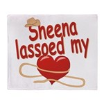 Sheena Lassoed My Heart Throw Blanket