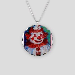 Clown, bright, fun, art! Necklace Circle Charm