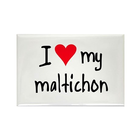 I LOVE MY Maltichon Rectangle Magnet