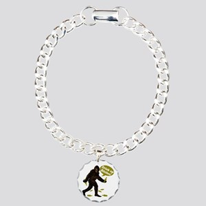 Drink Up Bitches Bigfoot Charm Bracelet, One Charm
