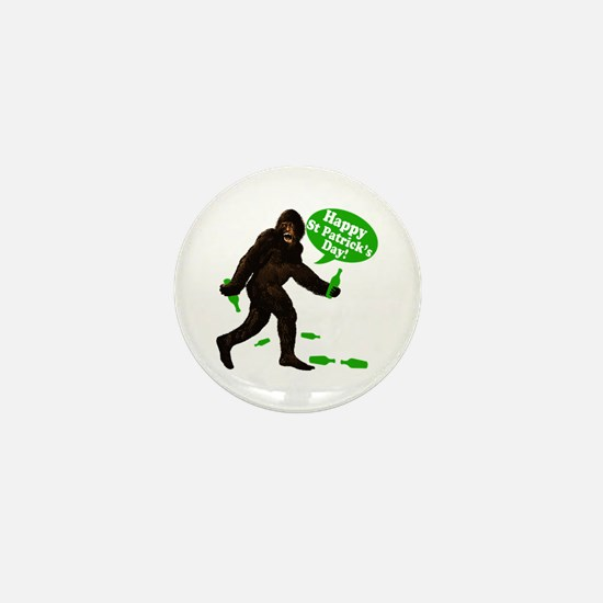 Happy St Patricks Day Bigfoot Mini Button