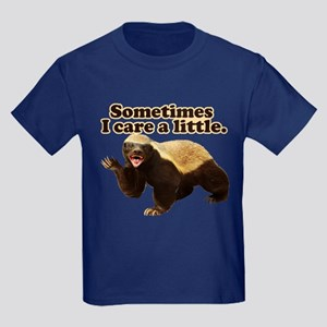 Honey Badger Does Care! Kids Dark T-Shirt