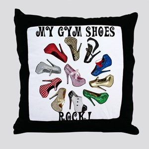 Cirlcle of Shoes Throw Pillow