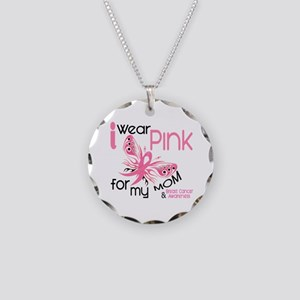 I Wear Pink 45 Breast Cancer Necklace Circle Charm