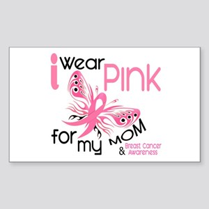 I Wear Pink 45 Breast Cancer Sticker (Rectangle)