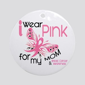 I Wear Pink 45 Breast Cancer Ornament (Round)