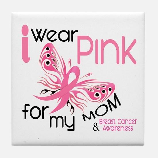 I Wear Pink 45 Breast Cancer Tile Coaster