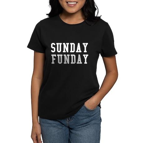 SUNDAY FUNDAY Women's Dark T-Shirt