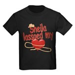 Sheila Lassoed My Heart Kids Dark T-Shirt