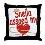 Sheila Lassoed My Heart Throw Pillow