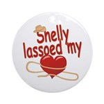 Shelly Lassoed My Heart Ornament (Round)
