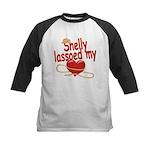 Shelly Lassoed My Heart Kids Baseball Jersey