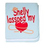 Shelly Lassoed My Heart baby blanket