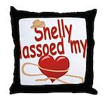 Shelly Lassoed My Heart Throw Pillow