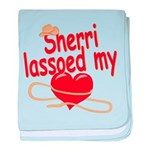 Sherri Lassoed My Heart baby blanket