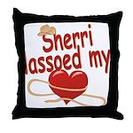 Sherri Lassoed My Heart Throw Pillow