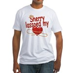 Sherry Lassoed My Heart Fitted T-Shirt