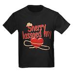 Sherry Lassoed My Heart Kids Dark T-Shirt