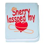 Sherry Lassoed My Heart baby blanket
