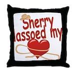 Sherry Lassoed My Heart Throw Pillow