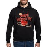 Sheryl Lassoed My Heart Hoodie (dark)