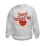 Sheryl Lassoed My Heart Kids Sweatshirt