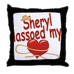 Sheryl Lassoed My Heart Throw Pillow